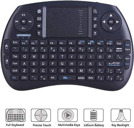RSGK Teclado inalámbrico 2.4G con Panel táctil para Mouse, Mini Teclado de Mano para PC con Android Android TV Box: Amazon.es: Deportes y aire libre