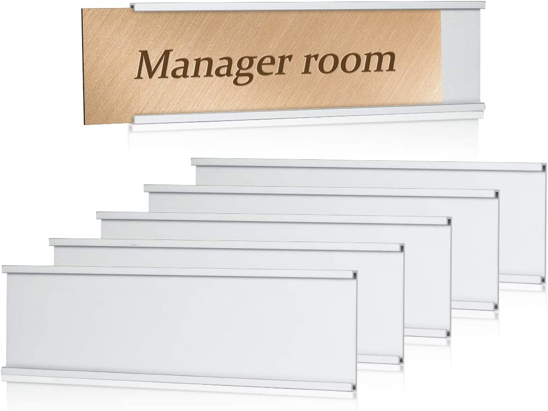 Lenink 6Pcs Name Plate Holder,Wall Mount Office Door Nameplate Holders