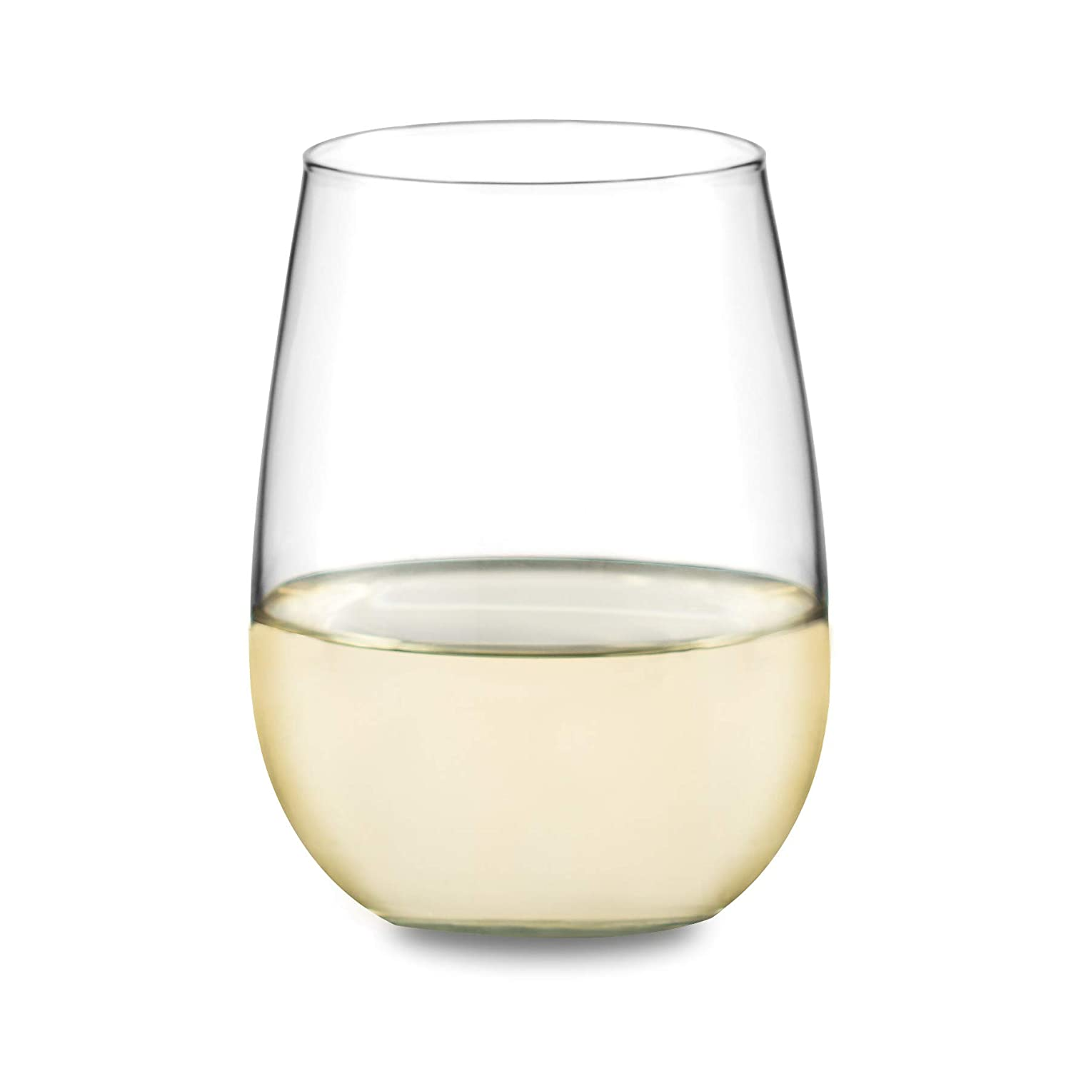 Libbey Vina 12-Piece Stemless Red and White Wine Glasses in Clear