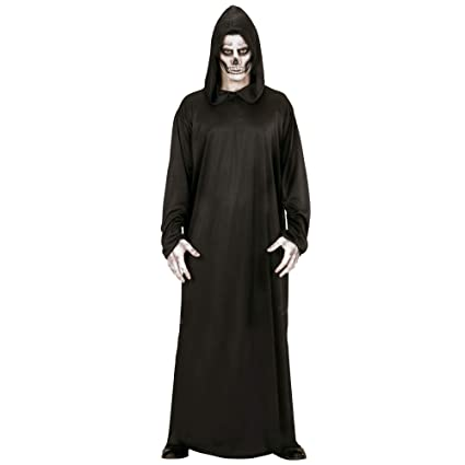 WIDMANN- Traje muerte vestido con capucha, Color negro, XL (00014)