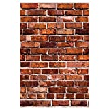 interesting bedroom wood tile Wallies Wall Decals, Brick Wall Sticker, Includes 2 Sheets