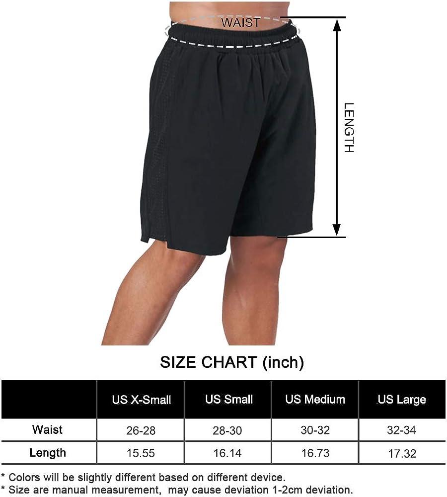 BOOMLEMON Mens Athletic Running Shorts Gym Workout Quick Dry Basketball Short Pants