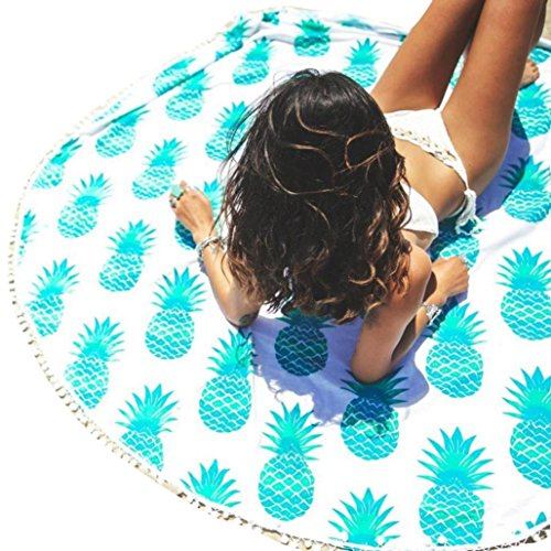 Women's Beach Towel, Bigban Girls Beach Cover Up Bikini Boho Summer Dress Swimwear Bathing Suit Kimono Tunic (Sky Blue)