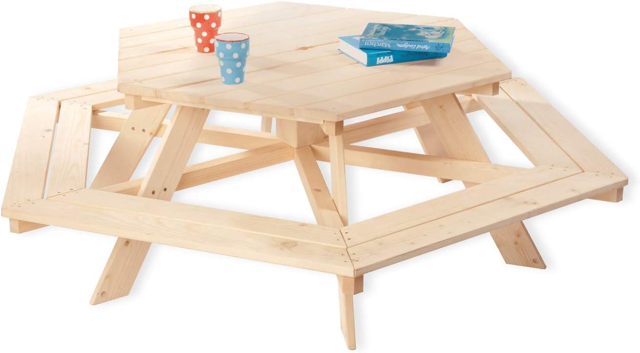 Pinolino Pique-Nique-Table - Nicki - Hexagonale