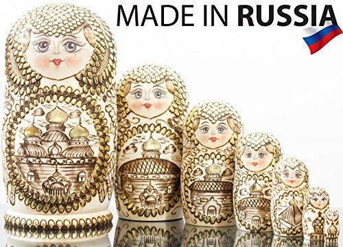 "Russian Nesting Doll - ""Golden Domes of Russia"" - Hand Paint"