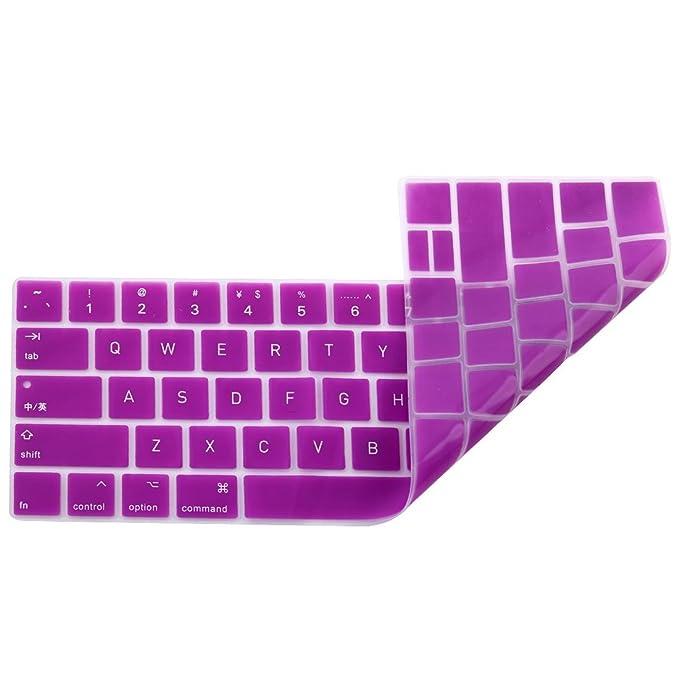 Amazon.com: eDealMax portátil de silicona teclado de ordenador del Protector de la piel cubierta púrpura Para MacBook Pro 13: Electronics