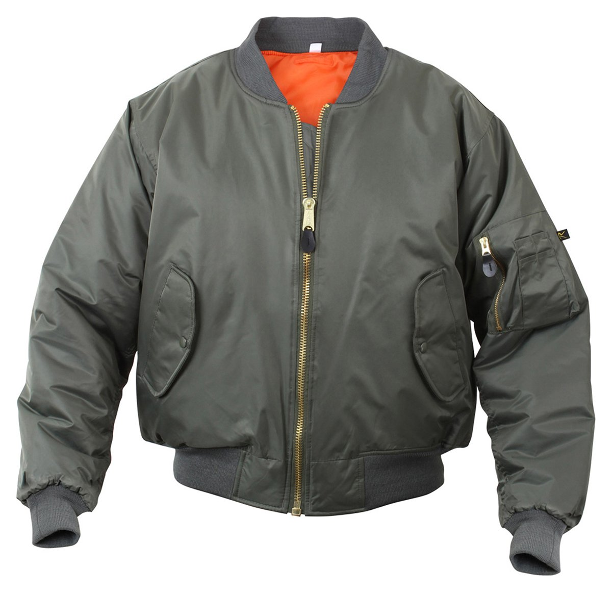 Amazon.com: Rothco Kids Ma-1 Flight Jacket-Black: Sports & Outdoors