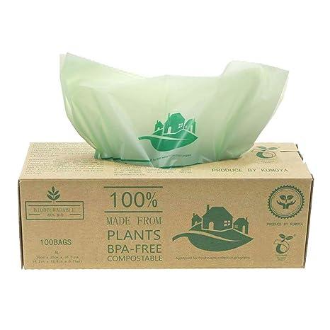 100 luxtons biodegradables trazadores de líneas de – 6litros/10 litros de alimentos para cocina Degradable de la basura trazadores de líneas de EN ...