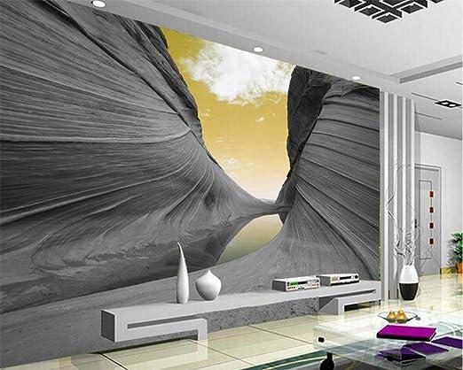 Papel pintado Papel tapiz personalizado 3D Estético Montaña Cielo ...