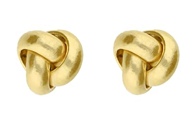 5b32afe38 Adara 9 ct Yellow Gold Knot Studs: Amazon.co.uk: Jewellery