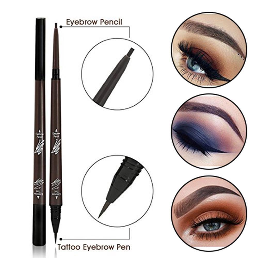 Double End Tattoo Eyebrow Pen Aolvo Liquid Eyebrow Pencil Waterproof