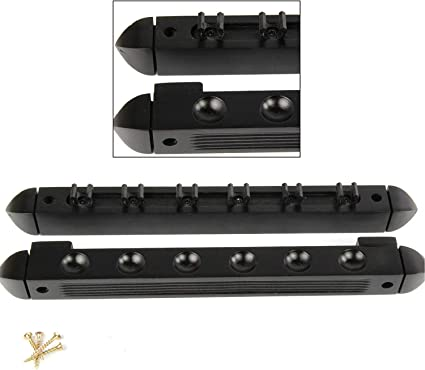 Holds Up To 6 Cues BLACK 6 Way CLIP Snooker Pool Cue Wall Mounted Rack