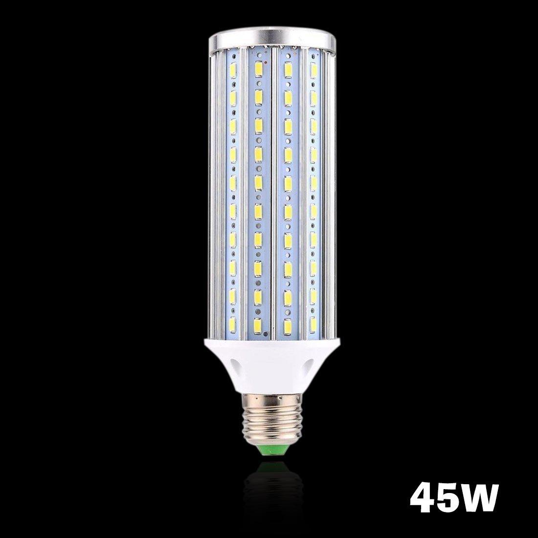 Gowt E27 45W LED Aluminum High Power Corn Light Bulb 450W HalogenLED Lamp for Street Light Floodlight Bulb Street Lamp Post Lighting Garage Warehouse Porch Backyard Garden, 45W-Cool White