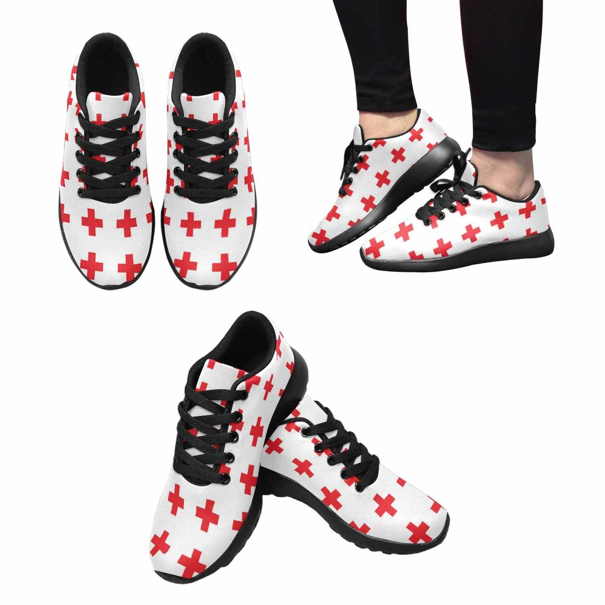 INTERESTPRINT Womens Running Shoes Web Pattern Print for Laides Outdoor Sneakers