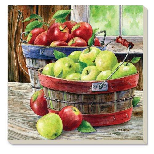 CounterArt Decorative Absorbent Coasters Apples