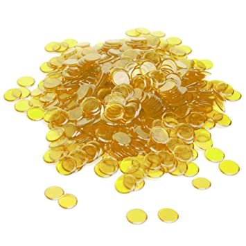 Brybelly Holdings GBIN-007 300 Pack Yellow Bingo Chips