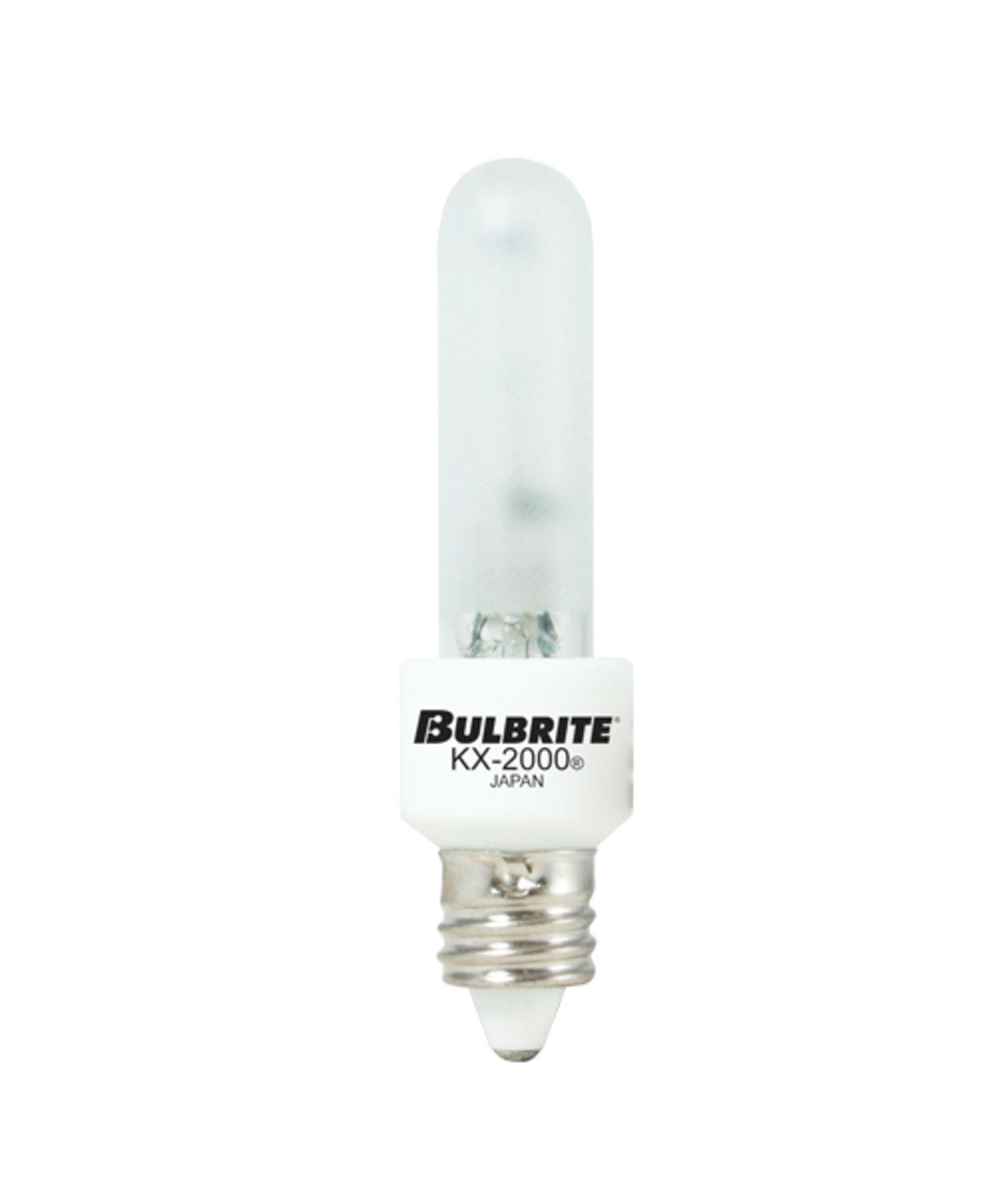 Bulbrite 473141 KX40FR/MC 40 Watt T3 KX2000, Frost, Mini Candelabra base, 120 volts (Pack of 6)