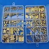 Raogoodcx 360pcs M2 M3 M4 Male Female Brass Spacer Standoff Screw Nut Assortment Kit with Box