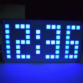 JUA PORROR Kit de reloj DIY ajustable, tamaño grande, reloj electrónico, reloj digital con caja de acrílico: Amazon.es: Bricolaje y herramientas