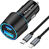 Fast USB C Car Charger, Meagoes 18W PD Rapid Charging Adapter Compatible for Apple iPhone 12 Pro Max/Mini/11/XS/XR/X/8…