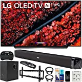 LG OLED65C9PUA 65' C9 4K HDR Smart OLED TV w/AI ThinQ (2019) w/Soundbar Bundle Includes Deco Gear 60W Soundbar with Subwoofer, 37-70' Low Profile Wall Mount Kit, 2.4GHz Wireless Keyboard and More