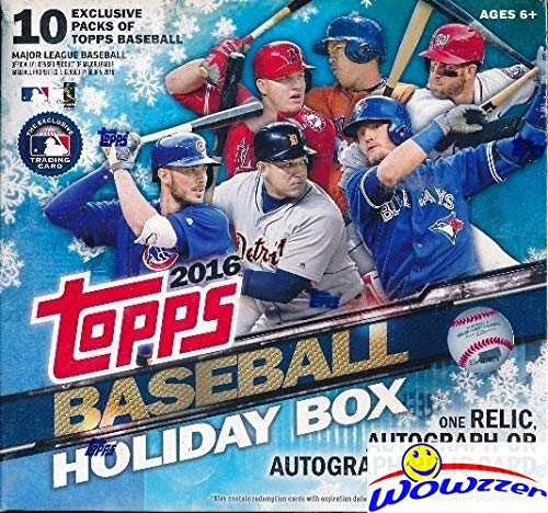 Sealed HOLIDAY MEGA Factory Sealed Box with AUTOGRAPH or RELIC Card,100 Cards including FIVE(5) EXCLUSIVE Snowflake Metallic Parallels! WOWZZER! ()
