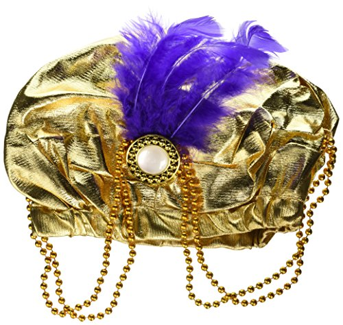 Jacobson Hat Company Women's Metallic Arabian Prince Princess Hat, Gold, Adult ()