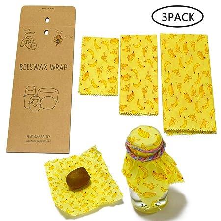 FOONEE Beeswax Food Wraps Reusable Organic Bees Aprobado por La ...