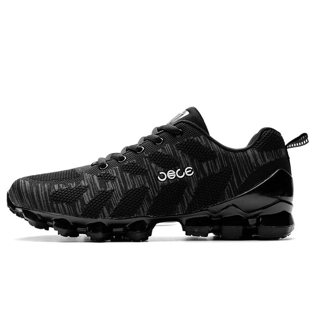 Qiusa Mens Schnürung Durable Comfort Schuhe weiche Sohle Rutschfeste Komfort atmungsaktive Schuhe (Farbe   Schwarz, Größe   EU 41)