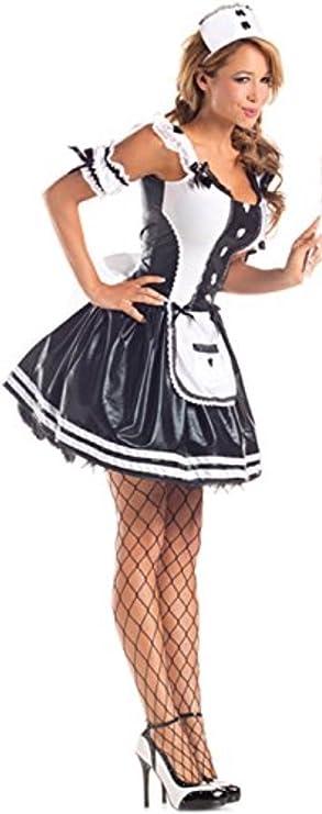 harrowandsmith negro disfraz de sirvienta sexy negro y blanco ...