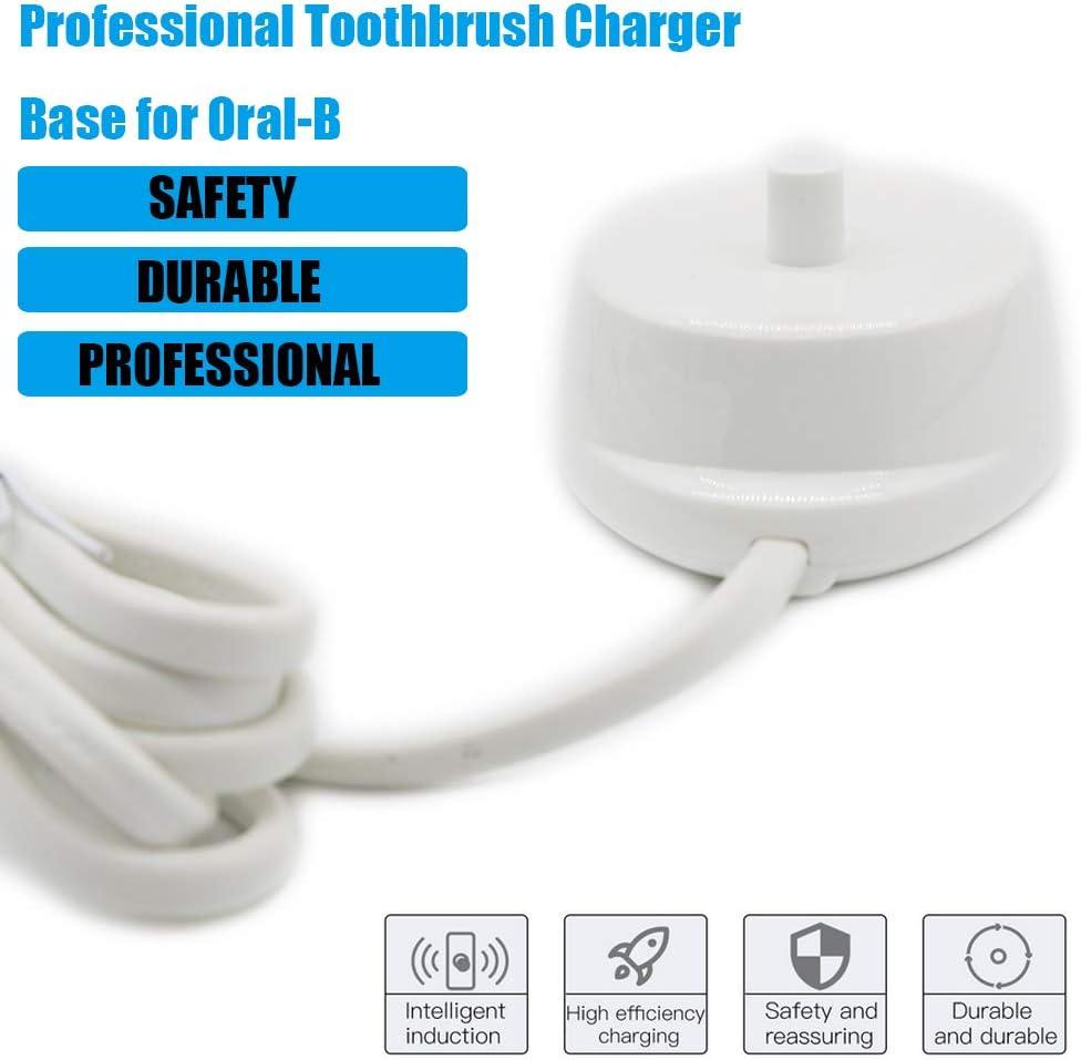 Reemplazo de la base del cargador del cepillo de dientes eléctrico Compatible con Oral B Carga inductiva Cable de alimentación impermeable Oral -B portátil Modelo 3757 para viajes: Amazon.es: Salud y cuidado personal