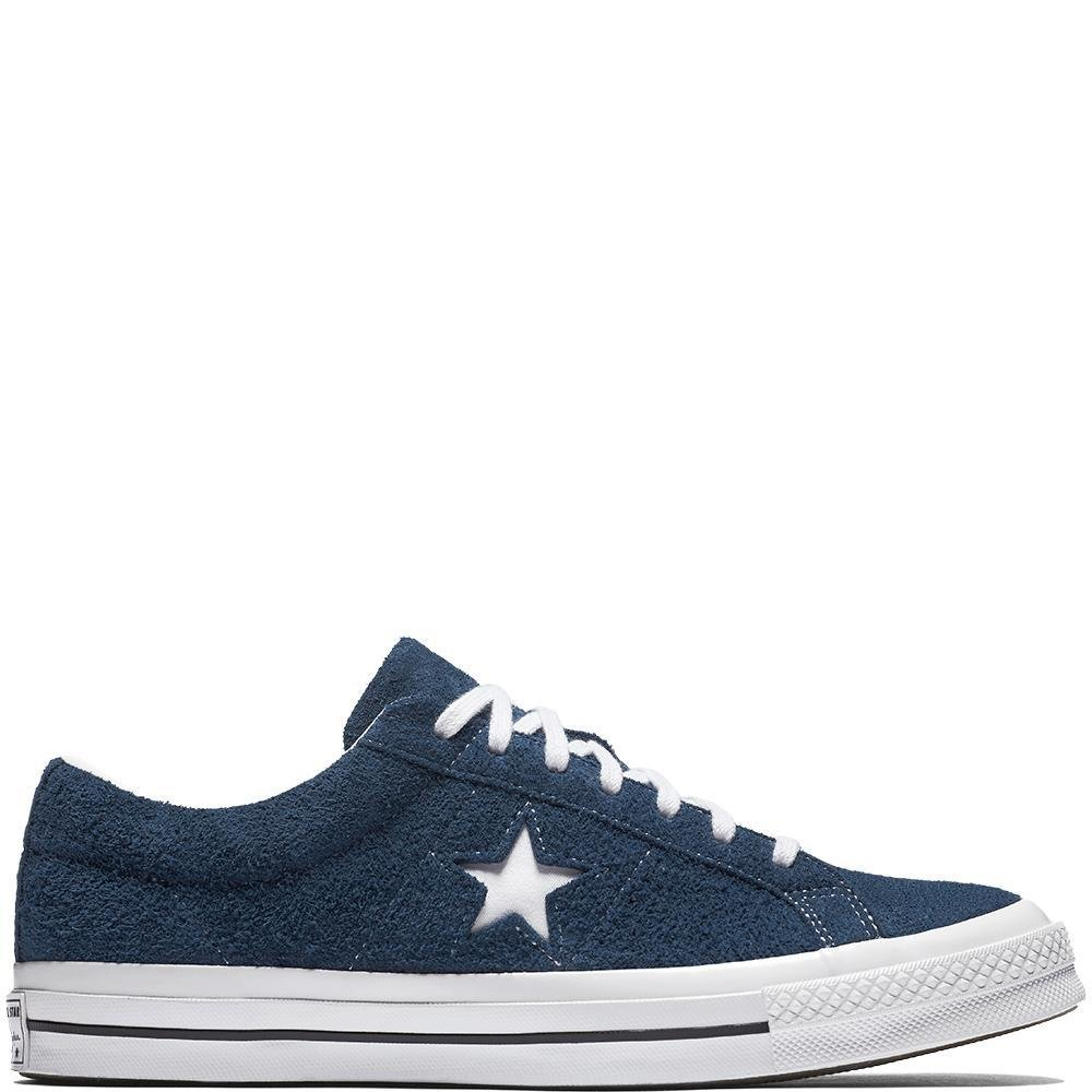 Converse Mens One Star Ox Navy White Suede Trainers 7.5 US