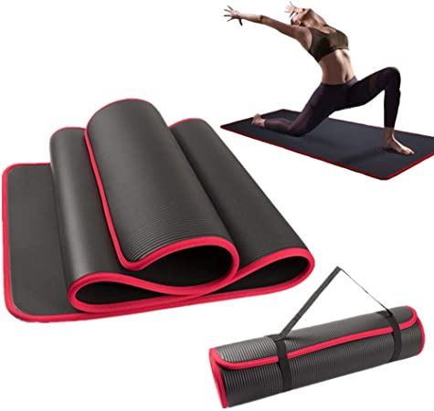 Woman /& Children Stretching Transportable Home Gym Mat for Men BRAVICH Yoga Vibrant Mat Non-Slip Rollable Multi-Purpose 173 x 61 x 0.6 cm Pilates Mountain Climbers Sit-Up Weights Fitness