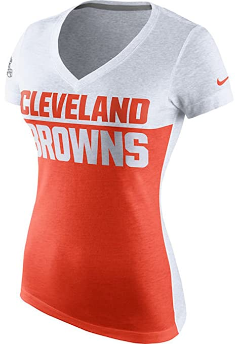 90a9ee71d13 Cleveland Browns Nike Women's Home and Away T-Shirt - White/Orange (Small