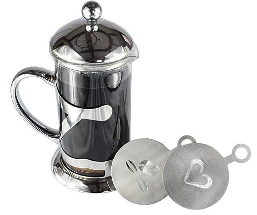 calcore francés de acero inoxidable Prensa Cafetera eléctrica con ...