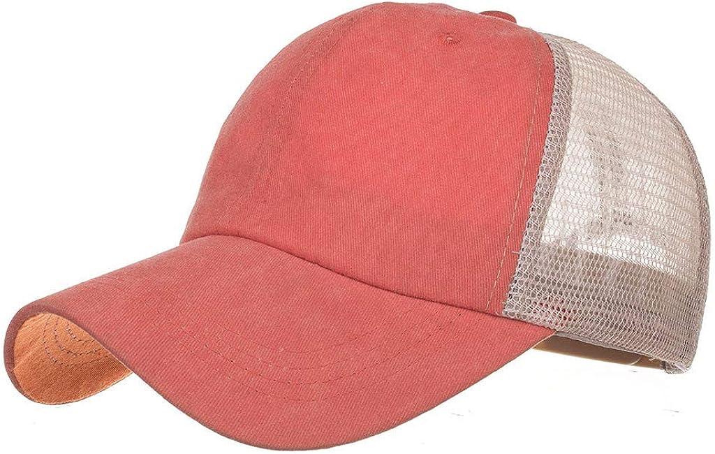 Renlinwell Unisex Outdoor Solid Baseball Caps Adjustable Shade Hat Orange