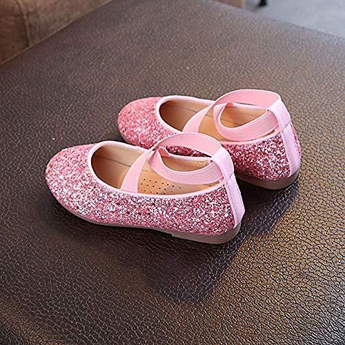 Elástica Girls De Solos Princesa Banda Bebé Pequeñas Toddler Infantiles Niñas Infant Rosado Lentejuelas Zapatos Para Niños Yanhoo Baile n0waqBFx