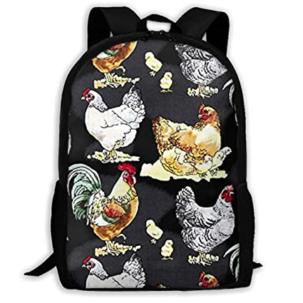 e9abaad1b36f Amazon.com: Hen Rooster Cock House Barnyard Travel Hiking Lightweight Mens  Womens Unisex Computer Gaming Laptop Backpack,Boys Girls School Book Bag:  Home & ...