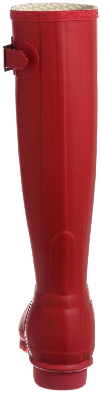Hunter mit Original Tall classic, Unisex - Erwachsene Gummistiefel mit Hunter hohem Schaft, Rot (Rot) 3f65fa