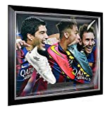 Lionel Messi, Neymar Jr & Luis Suarez Autographed Signed and Framed Barcelona Boots - Certified Authentic