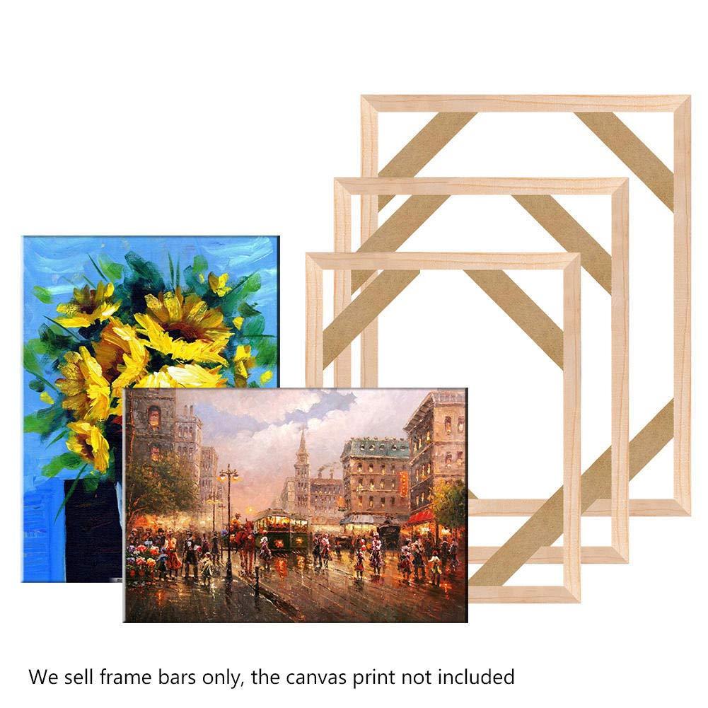 Canvas Stretcher Bars Frame,Framed Picture Accessories,Wood Canvas Frame Kit,DIY Art Canvas Frames, 50x150cm (20x59inch) by LJY&V