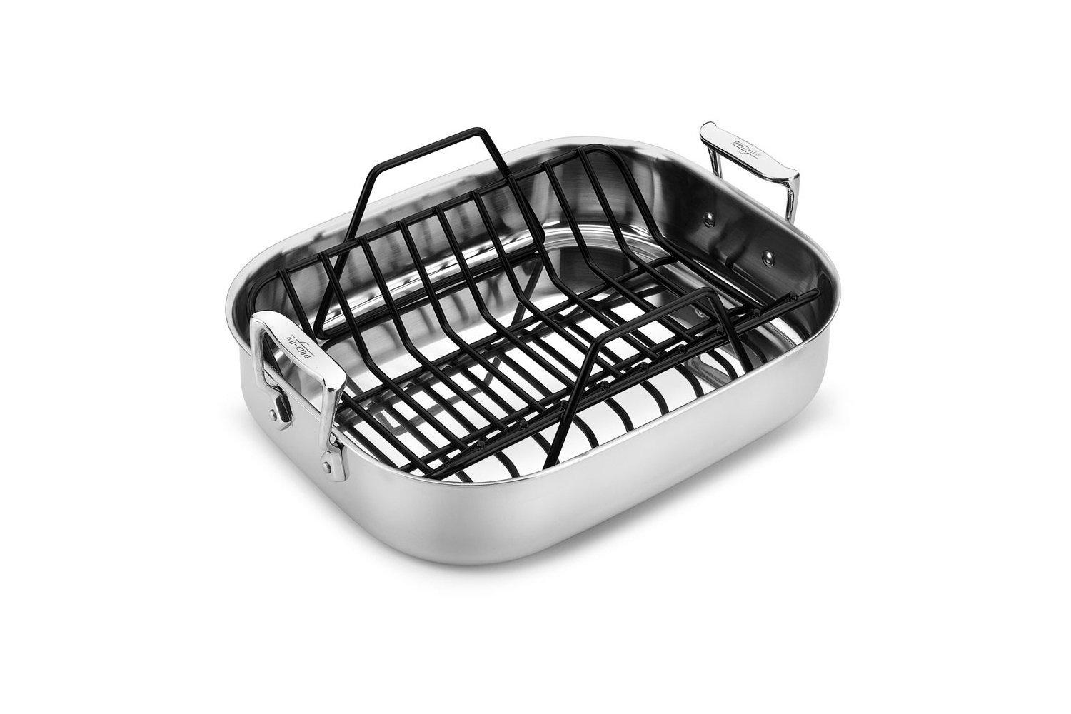 All-Clad Stainless Roasting Pan - 11 × 14 - with Rack 8400000029