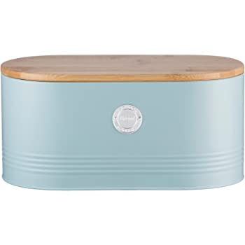 Turquoise Bread Box Impressive SveBake Bread Box For Kitchen Retro Design Carbon Steel Bread Bin
