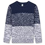 #5: BOBOYOYO Boy's Pullover Sweater Long Sleeve Round Neck Cotton Cable Knit Sweater Casual Style 6-14Y