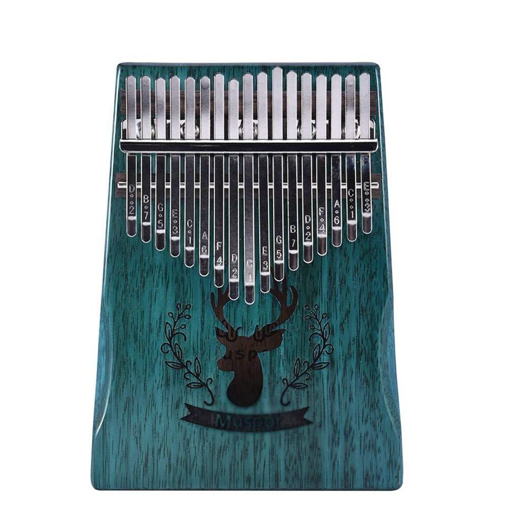 Zyj 17-Key Kalimba Thumb Piano Mahogany Body Instrument with Study Book Adjustment Hammer
