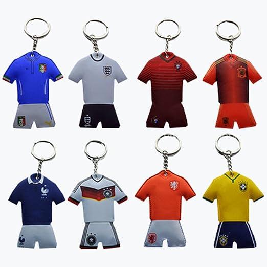 dosige 5 unidades Llavero colgantes con futbolista Camiseta ...