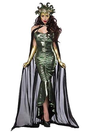 Unbekannt Damen Medusa Fantasy Kostüm Schlangen Verkleidung Aus