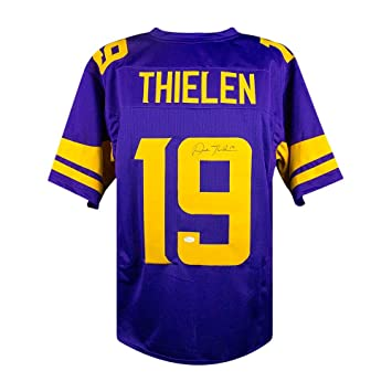 reputable site 652c0 11dac Adam Thielen Autographed Minnesota Vikings Custom Color Rush ...