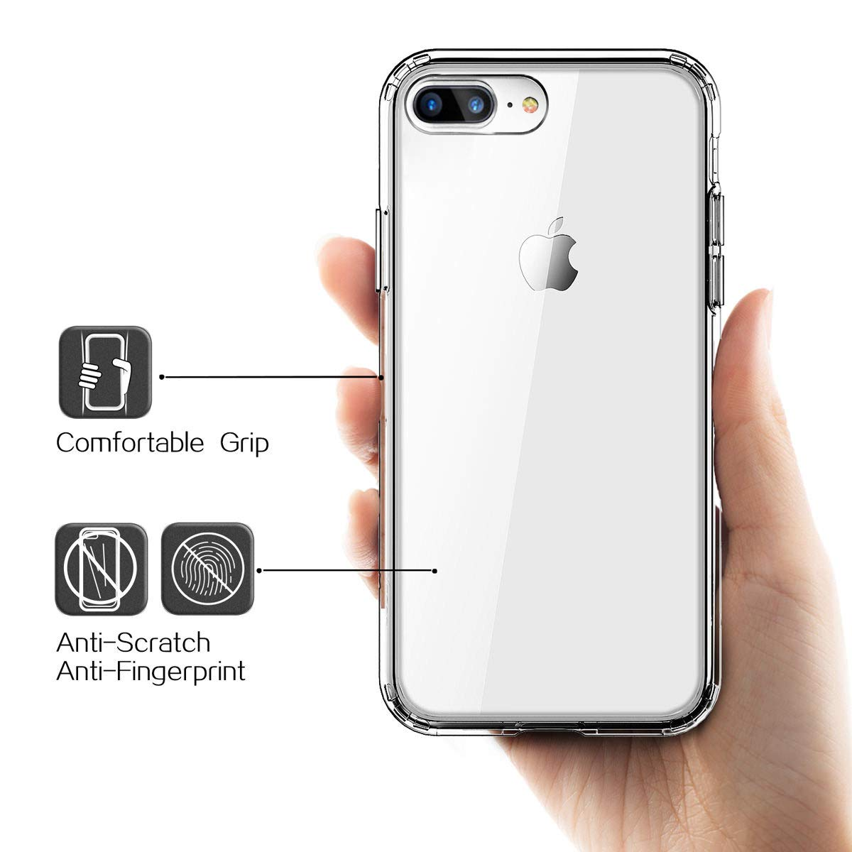 Amazon.com: Yesgo - Carcasa para iPhone 7 Plus, transparente ...