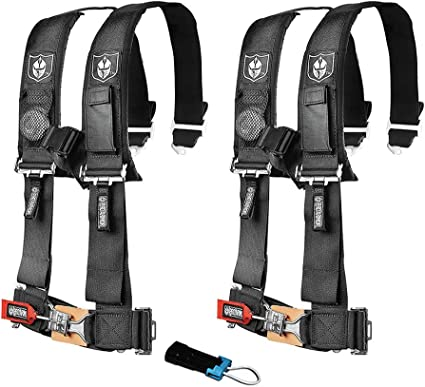 "PRP 5 Point Harness 3/"" Pads Seat Belt SINGLE BLACK RZR XP Turbo 1000 RS1"